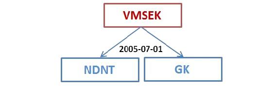 MSEK reorganizavimo schema